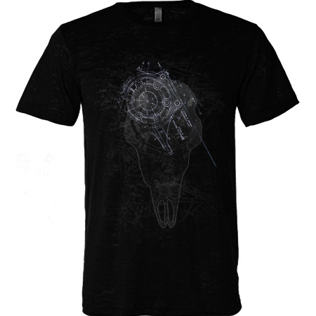 For Website - Theory12 on Black Burnout Tshirt