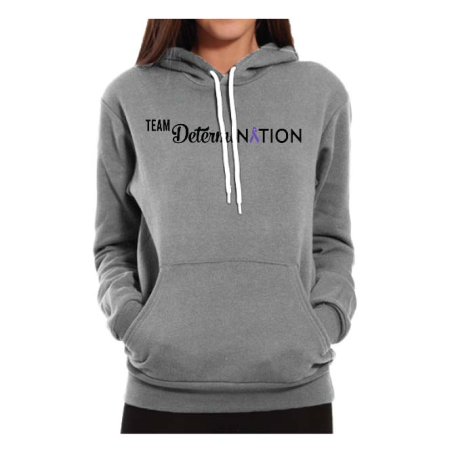 Team_DetrermiNation_Gray Hoodie_Front